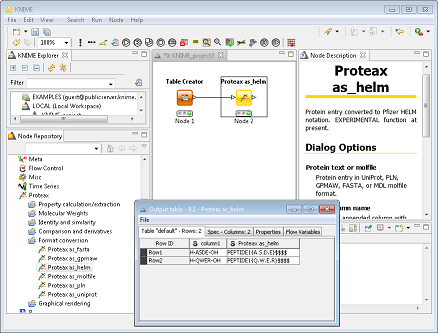 [Image: Proteax KNIME nodes screenshot.]